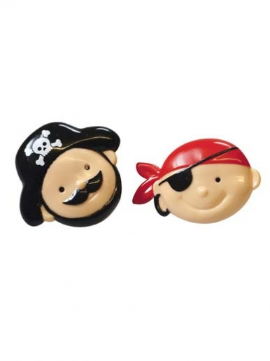 One Plastic Pirate Face Ring - selected at random
