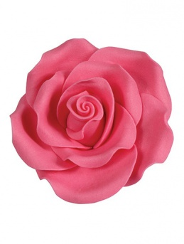 Extra Large Soft Sugar Roses - Bright Pink 63mm - Box of 8