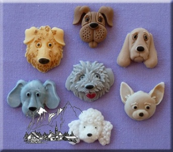 Dog Heads Silicone Mould