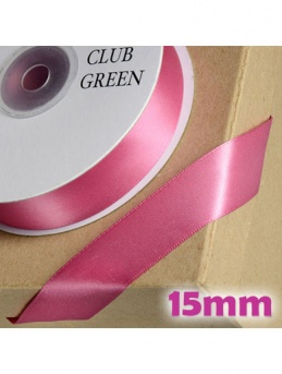 Double Sided Satin Ribbon 15mm Dusky Pink / Deep Pink