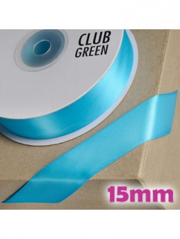 Double Sided Satin Ribbon 15mm Turquoise