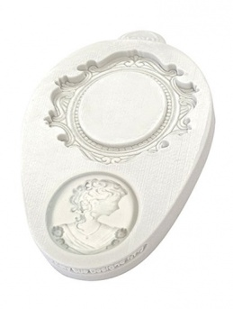 Katy Sue Mould - Miniature Frames - Oval Cameo & Oval Frame 2