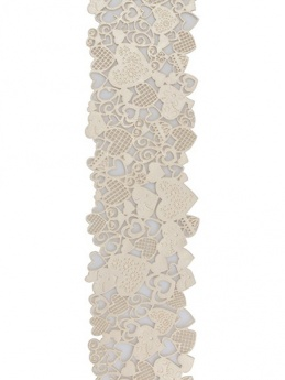 House of Cake Edible Cake Lace - Hearts Pearl