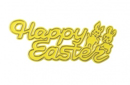 Yellow Happy Easter Motto Pic
