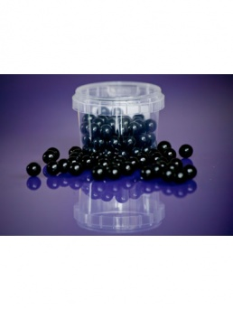 Black - Large Sugar Pearls 10mm - 80g