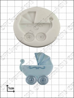 Baby Carriage Silicone Mould