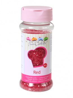 FunCakes Sugar Crystals - Red 80g