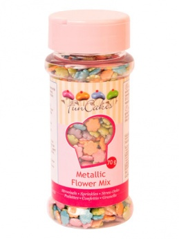 FunCakes Metallic Flower Mix 70g