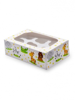 Jungle Animals Cupcake Box pack of 2