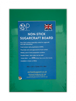 Green Non-Stick Sugarcraft Board - 12'' x 9'' (300mm x 230mm) - Orchard Products