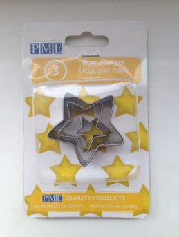 Metal Star Cutters set of 3