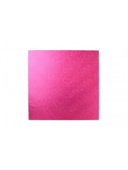 Square Thick Cake Board Drum - Cerise