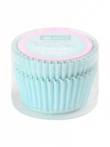 Baby Blue Colour Block Baking Cases 36 pack