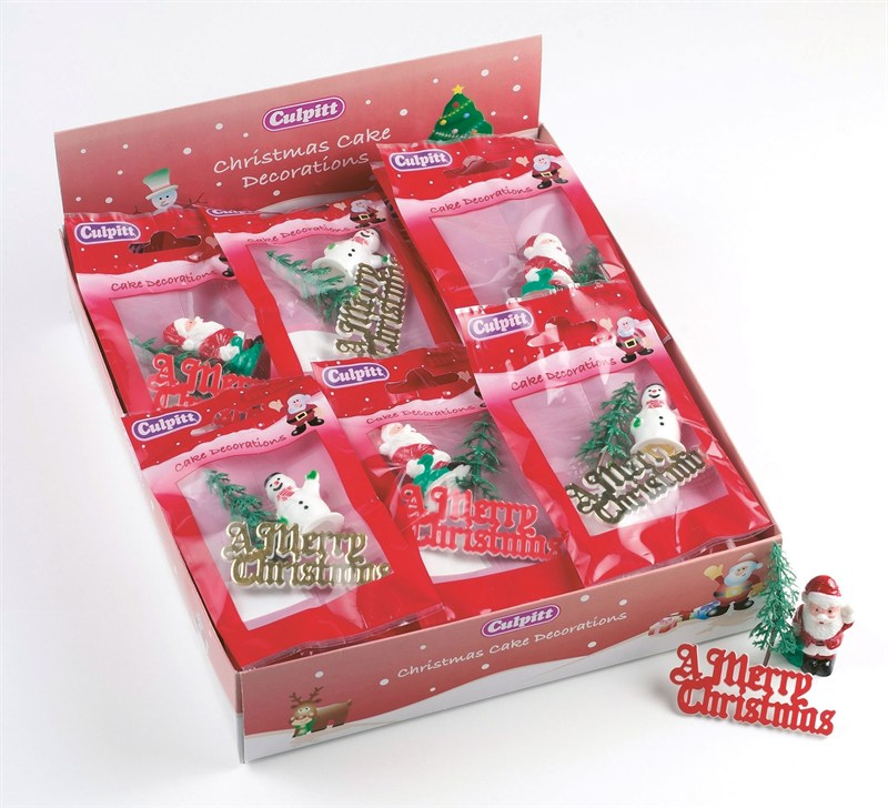 Christmas Cake Decoration Pack : Christmas Cake Decorations Retail Pack - The Vanilla Valley