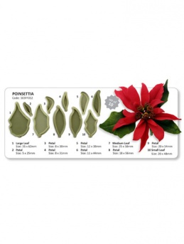 Poinsettia - Set of 10 Cutters