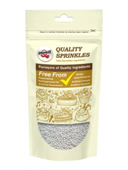 Pearlised White Non-Pareils 100g