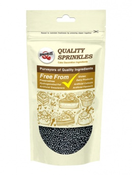 Pearlised Black Non-Pareils 100g