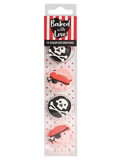 Pirate - Edible Decorations - Pack of 12