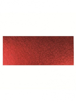12'' x 5'' Red - Single Thick Oblong Cake Card