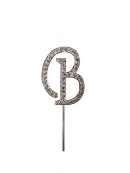Diamante Cake Topper Letter B