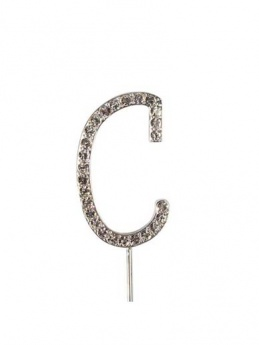 Diamante Cake Topper Letter C