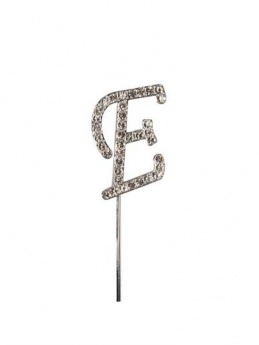 Diamante Cake Topper Letter E