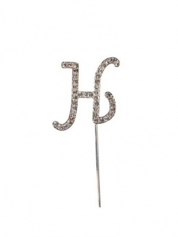 Diamante Cake Topper Letter H