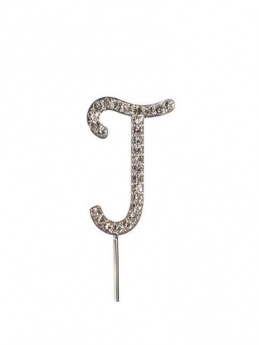 Diamante Cake Topper Letter J