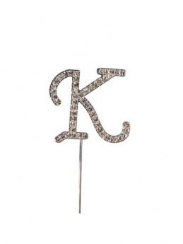 Diamante Cake Topper Letter K