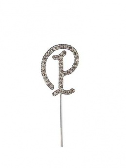 Diamante Cake Topper Letter P