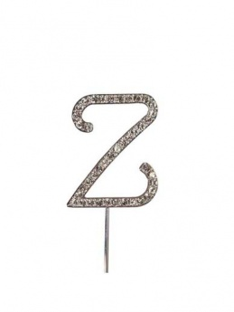 Diamante Cake Topper Letter Z