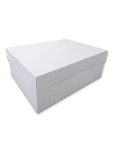 GLOSSY Oblong White Cake Box - 14'' x 18''