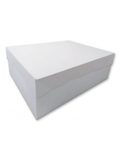 MATT Oblong White Cake Box - 14'' x 18''