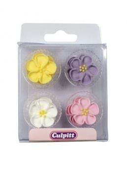 Wild Roses Flower Sugar Decorations - Pastel Colours