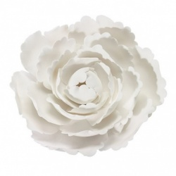 White Gumpaste Peony 4'' - Cake decoration