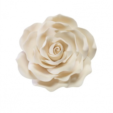 Ivory Gumpaste Rose 4'' - cake decoration