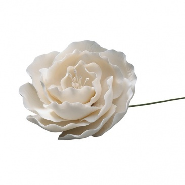 White Gumpaste Briar Rose 3'' - cake decoration