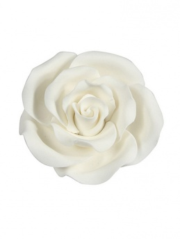 Large Soft Sugar Roses - White 50mm - Box of 10