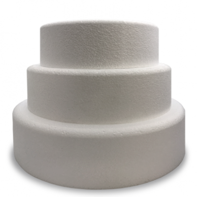 Round Single BEVELLED Cake Dummy - 4'' Deep