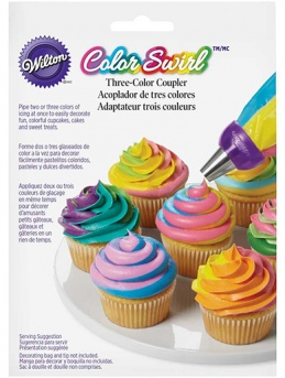 Wilton Color Swirl Three Color Coupler