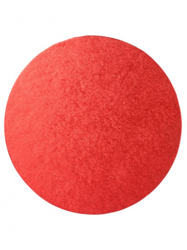 5'' Round Double Thick Turn Edge Cake Card - Red