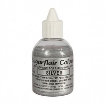 Sugarflair Airbrush Colour - Silver