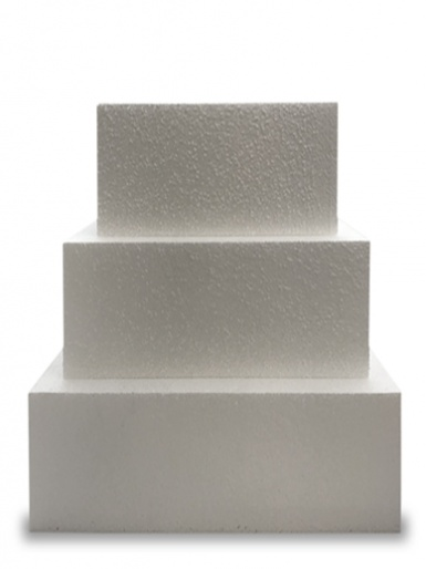 Square Single STRAIGHT Cake Dummy - 6'' Deep