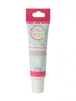 Cake Star Writing Icing Tube - White - 25g