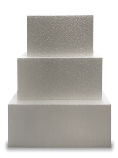 Square Single STRAIGHT Cake Dummy - 8'' Deep
