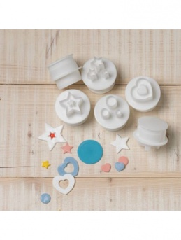 Cake Star Push Easy Cutters - SHAPES - 6 Pieces, 12 Shapes