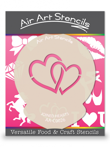 Valentines Joined Hearts Cupcake Stencil
