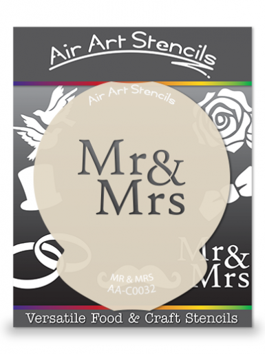 Mr & Mrs Wedding Cupcake Stencil