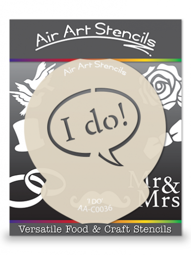 '' I Do '' Wedding Cupcake Stencil