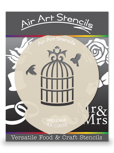 Bird Cage Wedding Cupcake Stencil